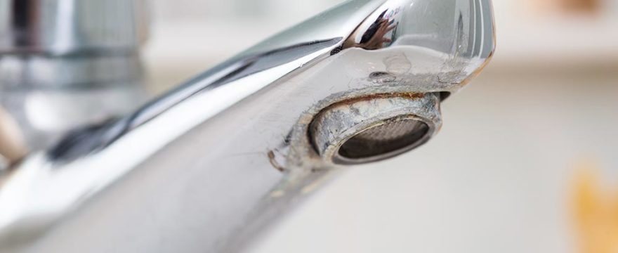 Hard water's effect on a faucet
